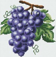 "Вышивка крестом ""Гроздь винограда"" (160x165 мм)"