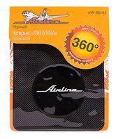 Коврик-липучка для мобильных устройств (138х160 мм; чёрный; арт. ASM-BB-03)