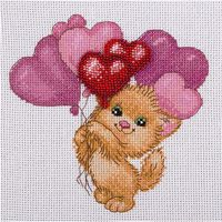"""Набор для вышивания """"Котик с шариками"""""""