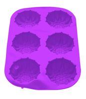Форма силиконовая для выпекания кексов (275x180x30 мм; фиолетовый)