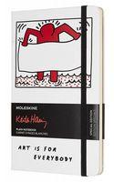 """Записная книжка Молескин """"Keith Haring"""" в линейку (А5; белая)"""