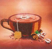 """Вышивка бисером """"Кофе"""""""