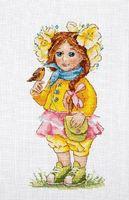 """Вышивка крестом """"Весенняя девочка"""" (230х140 мм)"""