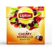 "Чай черный ""Lipton. Cherry Morello"" (20 пакетиков)"