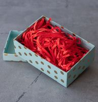 Стружка бумажная (красная; 100 г.)