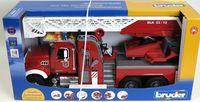 """Модель машины """"Пожарная машина MACK с лестницей"""" (масштаб: 1/16)"""