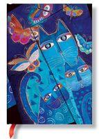 """Записная книжка Paperblanks """"Синие кошки и бабочки"""" в линейку (формат: 130*180 мм, средний)"""