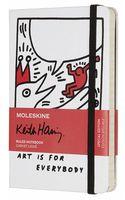 """Записная книжка Молескин """"Keith Haring"""" в линейку (90х130 мм; белая)"""