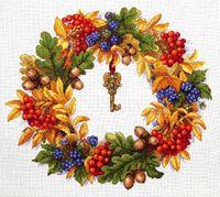 """Вышивка крестом """"Осенний веночек"""""""