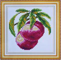 """Алмазная вышивка-мозаика """"Персики"""" (160х160 мм)"""