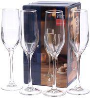 """Бокал для шампанского стеклянный """"Время дегустаций. Шампань"""" (4 шт.; 160 мл)"""