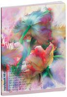 """Тетрадь полуобщая в клетку """"Poetic Flowers"""" (48 листов; в ассортименте)"""