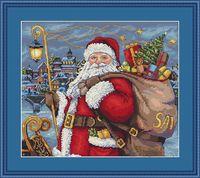 "Вышивка крестом ""Санта приходит!"" (280х250 мм)"