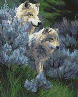 "Картина по номерам ""Волчья верность"" (400х500 мм)"