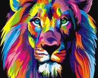 "Картина по номерам ""Радужный лев"" (500х650 мм)"