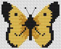 "Вышивка крестом ""Бабочка"" (70х60 мм)"