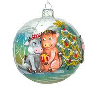 """Шар ёлочный """"Новый год у ёлки"""" (арт. ШБ100-42)"""