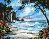 "Картина по номерам ""Ночь у моря"" (400х500 мм)"