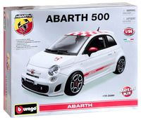 "Модель машины ""Bburago. Kit. Fiat Abarth 500"" (масштаб: 1/24)"