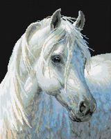 "Алмазная вышивка-мозаика ""Белый конь"" (400х500 мм)"