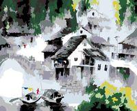 """Картина по номерам """"Белый город"""" (500х400 мм)"""