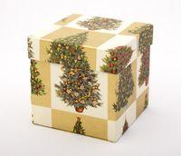 "Подарочная коробка ""Christmas Trees"" (11х11х11 см)"