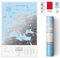 """Скретч-карта """"Silver Europe"""" (600х400 мм)"""