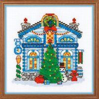 """Вышивка крестом """"Ледяной домик"""" (150x150 мм)"""