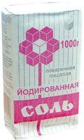 Соль поваренная йодированная пищевая (1 кг)