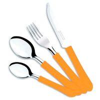 Набор столовых приборов металлических с пластмассовыми ручками (24 предмета; арт. 23199431)