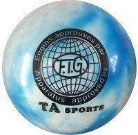Мяч для художественной гимнастики RGB-101 (15 см; сине-белый)