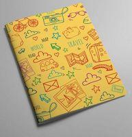 "Обложка на паспорт ""Travel"" (желтая)"
