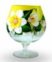 "Ваза стеклянная ""Цветущий сад"" (17,5 см)"