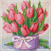 """Алмазная вышивка-мозаика """"Тюльпаны в подарок"""""""