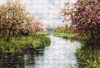 """Вышивка крестом """"Весенний пейзаж"""" (665х450 мм)"""