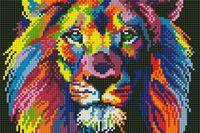 "Алмазная вышивка-мозаика ""Яркий лев"" (220х320 мм)"