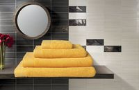 Полотенце махровое (50x100 см; желтое)