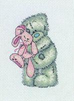 """Вышивка крестом """"Розовый кролик"""""""