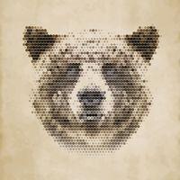 """Репродукция на холсте """"Медведь"""" (арт. КО-085)"""