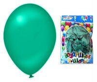 Набор шариков резиновых надувных (зелёный; 100 шт.)