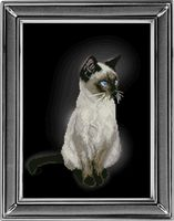 """Вышивка крестом """"Сиамская кошка"""""""