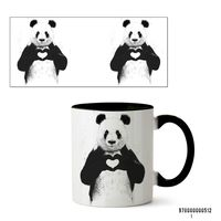 "Кружка ""Панда"" (512, черная)"