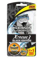 "Станок для бритья одноразовый ""Xtreme3 Black Edition"" (4 шт.)"