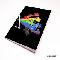"""Блокнот белый """"Pink Floyd"""" А7 (арт. 310)"""