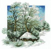 """Вышивка крестом """"Зима в деревне"""""""