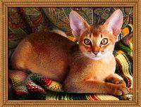 "Алмазная вышивка-мозаика ""Абиссинский кот"" (400х300 мм)"