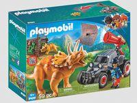 """Игровой набор """"Динозавры. Вражеский квадроцикл с трицератопсом"""""""