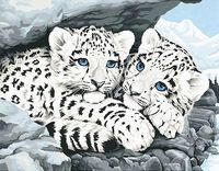 "Картина по номерам ""Детеныши снежного леопарда"" (280х360 мм; арт. DMS-91079)"