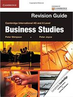 Business Studies. Cambridge International AS and A Level. Revision Guide