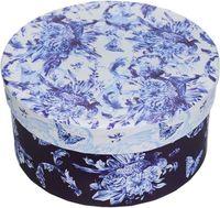 """Подарочная коробка """"Голубые цветы"""" S (14х14х7 см; арт. 44292)"""